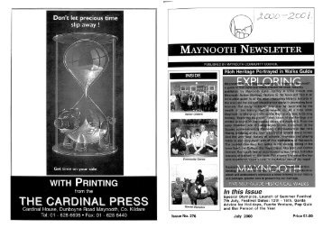 MAYNOOTH NEWSLETTER - Maynooth Community Council