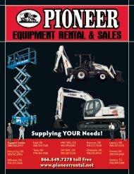 Supplying YOUR Needs! - Pioneer Equipment Rental
