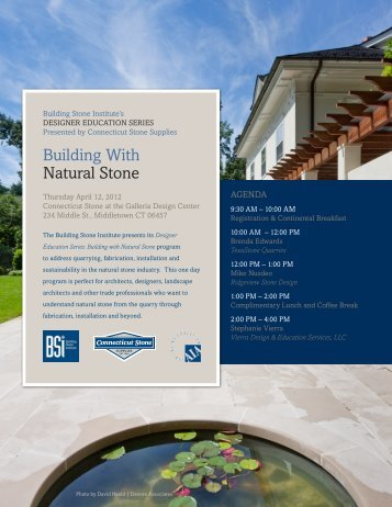 Building With natural Stone - Building Stone Institute
