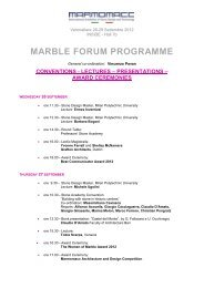 marble forum programme - Marmomacc Architecture and Design