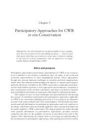 Participatory Approaches for CWR in situ Conservation - Crop Wild ...
