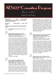 Convention Program - Audio Engineering Society