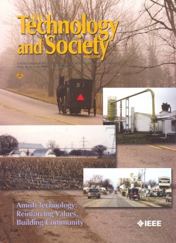 Amish Technology - Consortium For Science, Policy & Outcomes