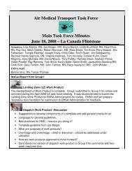 Air Medical Transport Task Force Main Task Force Minutes June 18 ...