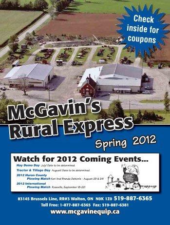 27 McGavin's Rural Express mcgavin@ezlink.ca 1-877-887-6365 or ...
