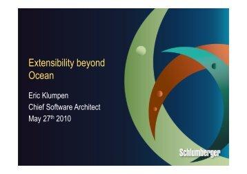 Extensibility beyond Ocean - Schlumberger