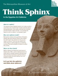 Think Sphinx - The Metropolitan Museum of Art
