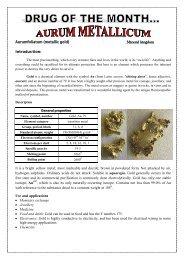 Aurum Metallicum - Similima