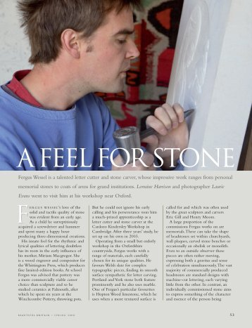 Gallery: A Feel for Stone - Fergus Wessel