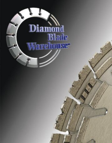 Table Of Contents - Diamond Blade Warehouse