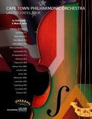 Cape town philharmonic orchestra - Geneva Concerts