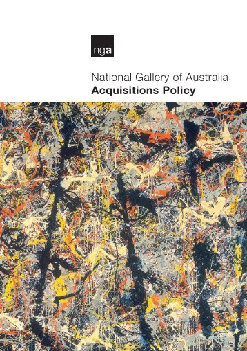 National Gallery of Australia Acquisitions Policy