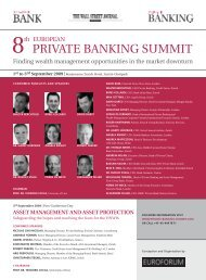 PRIVATE BANKING SUMMIT - Back to Home Page