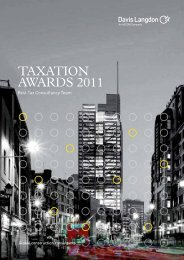 TAXATION AWARDS 2011 - Banking Tax & Finance