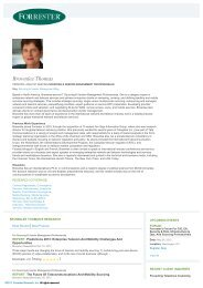 Forrester Research : Analyst : Brownlee Thomas, Ph.D.