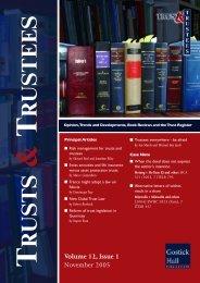 Editorial Contributors - Trusts & Trustees