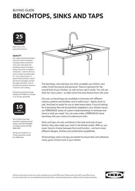 Excellent Buying Guide Benchtops Sinks And Taps Ikea Creativecarmelina Interior Chair Design Creativecarmelinacom