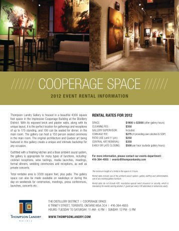 2012 Rental Information Package - Thompson Landry Gallery