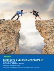 sourcing & vendor management forum  2012 - forreste - Forrester