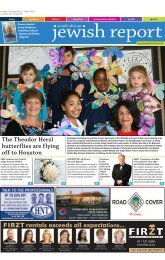 31 August 2012 - South African Jewish Report