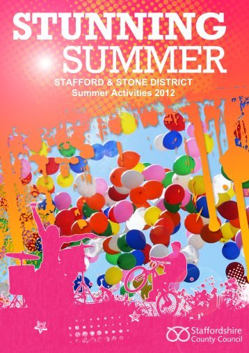 Stafford and Stone Summer Activities Brochure - Staffordshire Youth ...
