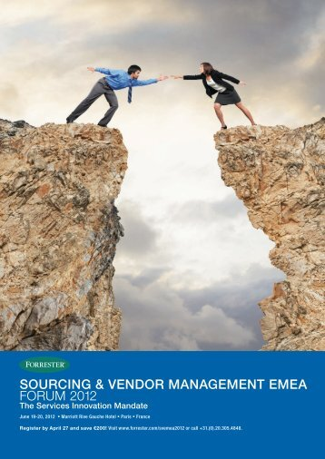 sourcing & vendor management emea forum 2012 - Forrester.com