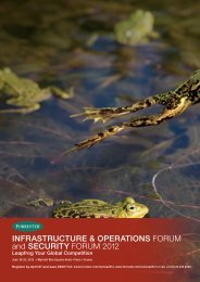 INFRASTRUCTURE & OPERATIONS FORUM and ... - Forrester