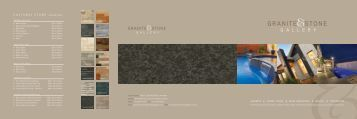 Download the Granite & Stone Gallery Brochure (PDF - Granite and ...