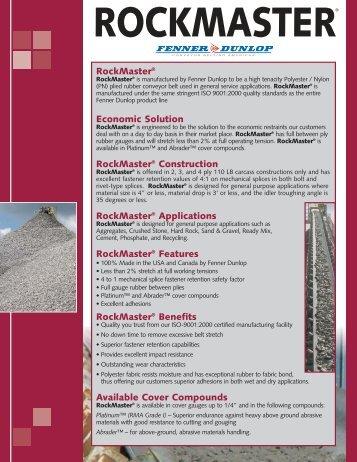 rockmaster brochure - ASGCO Manufacturing Inc