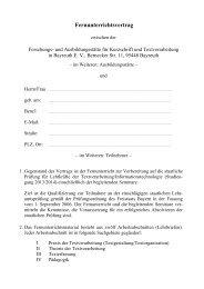 Ausbildungsvertrag - Forschungs