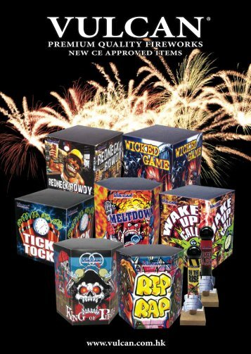 Our Vulcan CE Approved Fireworks catalog can be - Shogun