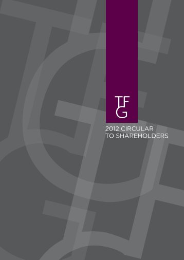 2012 CIRCULAR TO SHAREHOLDERS - Foschini Group