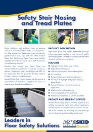 Safety Stair Nosing and Tread Plates - Antiskid Industries