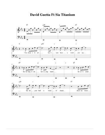 Titanium Piano Sheet Music Antaexpocoaching