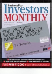 SAs top private bank and wealth manager report - Citadel