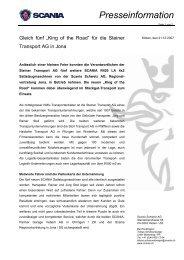 Presseinformation - Steiner Transport AG