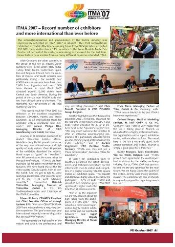 ITMA 2007 - Pakistan Textile Journal