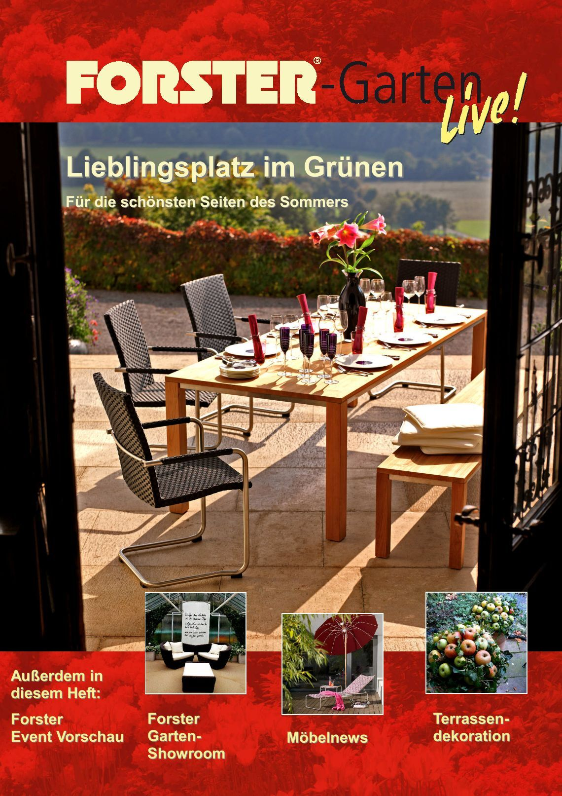6 free magazines from forstergarten. Black Bedroom Furniture Sets. Home Design Ideas