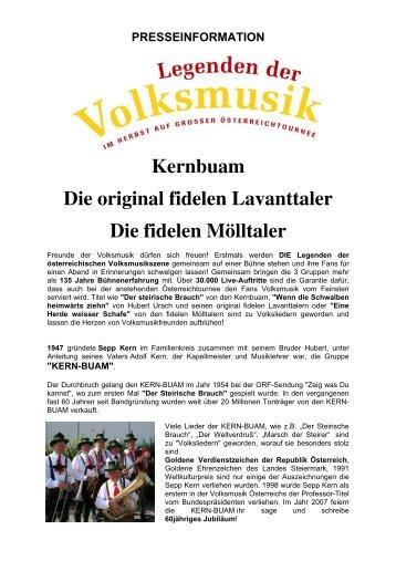 Presseinformation - Die Original Fidelen Lavanttaler