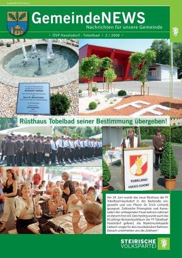 GemeindeNEWS 02/2008 - Haselsdorf - Tobelbad, die Homepage ...