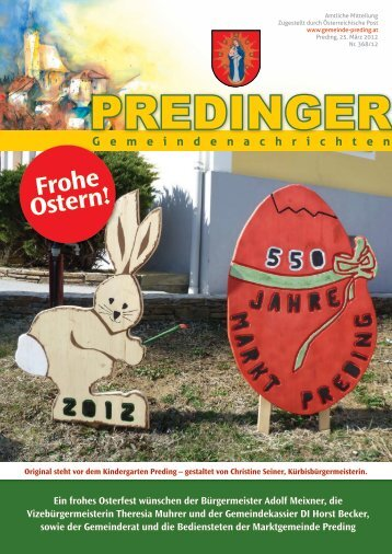 Gemeindenachrichten Nr. 368/12 - März 2012 - Marktgemeinde ...