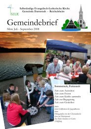 Gemeindebrief - SELK Darmstadt und Reichelsheim
