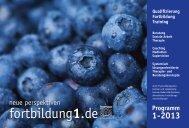 Aktuelles Programmheft - Fortbildung1.de