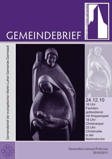 GEMEINDEBRIEF - Martin-Luther-Gemeinde Darmstadt