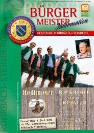 Donnerstag, 9. Juni 2011, 20 Uhr, Gemeindezentrum Rohrbach ...