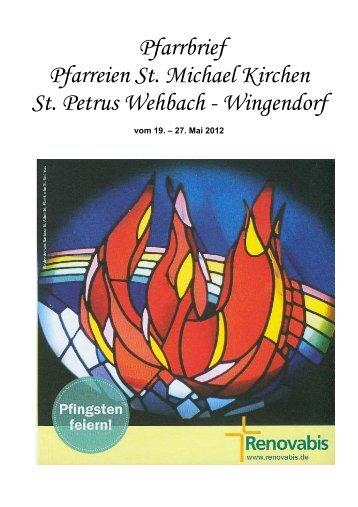 Pfarrbrief Pfarreien St. Michael Kirchen St. Petrus Wehbach ...