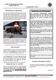 Rundbrief Nr. 01/2011 - St Michael Bruderschaft