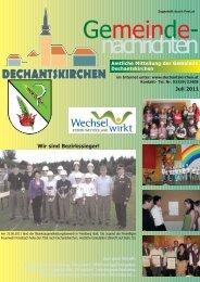 Juli 2011 - Gemeinde Dechantskirchen