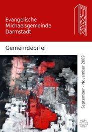Gemeindebrief Evangelische Michaelsgemeinde Darmstadt