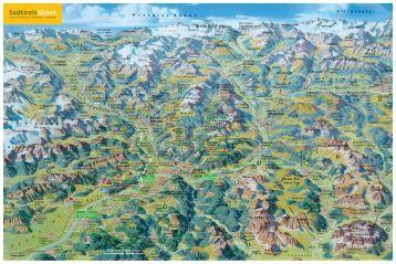 Panoramakarte Südtirol